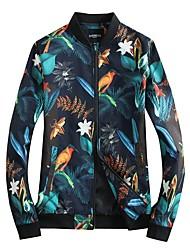 Недорогие -Муж. Куртка Цветочные/ботанический С принтом