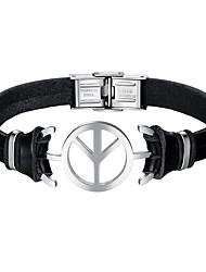 cheap -Men's Link Bracelet - Leather Airplane Bracelet Black For Daily / Date