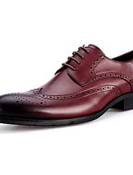 Homens sapatos Pele Primavera Outono Sapatos formais Oxfords para Casual Festas & Noite Vermelho