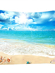 cheap -Beach Theme Nautical Wall Decor 100% Polyester Contemporary Modern Wall Art, Wall Tapestries of