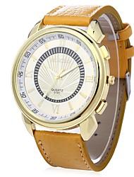 Недорогие -JUBAOLI Муж. Кварцевый Повседневные часы Китайский Крупный циферблат Кожа Группа Cool Белый