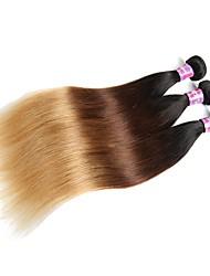 Недорогие -Необработанные Не подвергавшиеся окрашиванию плетение волос 100% девственница Для темнокожих женщин Прямой Бразильские волосы 0.3kg 12