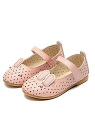 Недорогие -Девочки Обувь Полиуретан Кожа Весна Лето Удобная обувь Сандалии На липучках для Повседневные Для праздника Бежевый Розовый Светло-синий