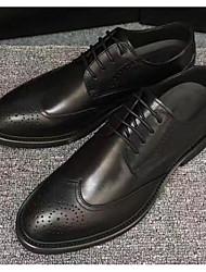 Homens sapatos Pele Primavera Outono Conforto Oxfords para Casual Preto Marron