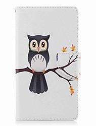 abordables -Coque Pour Sony Xperia L2 Xperia XA2 Ultra Porte Carte Portefeuille Avec Support Clapet Motif Coque Intégrale Arbre Chouette Dur faux cuir