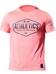 cheap -Men's Street chic Skinny T-shirt - Solid Colored Round Neck