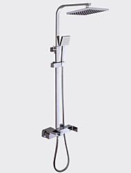 abordables -Moderne Set de centre Douchette inclue Soupape céramique Mitigeur deux trous Chrome, Robinet de douche