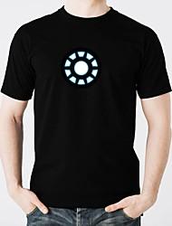 preiswerte -LED-T-Shirts Schein Reine Baumwolle LED Freizeit 2 AAA Batterien