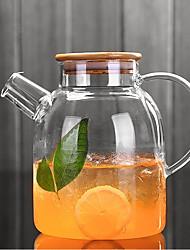 baratos -Vidro de boro alto Água Pot & Chaleira Jarro de água clara Chá e Bebidas Design Ergonómico Fofo Copos 1