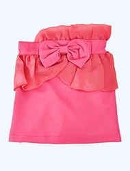 cheap -Girls' Daily Holiday Solid Skirt, Cotton Polyester Spring Summer Half Sleeves Cute Blushing Pink