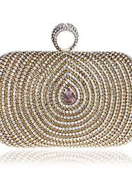 cheap -Women's Bags Polyester Evening Bag Buttons / Crystals Gold