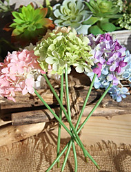 baratos -Flores artificiais 10 Estilo Moderno Hortênsia Flor de Mesa / Não Incluído