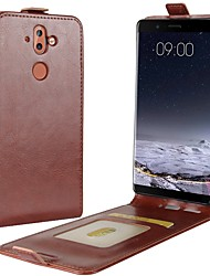 cheap -Case For Nokia Nokia 9 Nokia 6 2018 Card Holder Flip Full Body Cases Solid Colored Hard PU Leather for Nokia 9 Nokia 8 Nokia 7 Plus Nokia