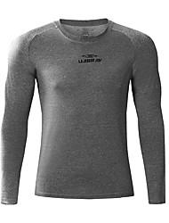 abordables -Homme Tee-shirt de Course Manches Longues Respirabilité Tee-shirt pour Exercice & Fitness Polyester Blanc / Noir / Gris L / XL / XXL