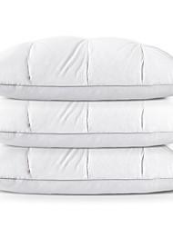 baratos -Qualidade Confortável-Superior Poliéster Confortável Travesseiro Polipropileno Penas de Ganso Cinza Poliéster