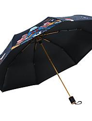 baratos -Tecido Mulheres Ensolarado e chuvoso / Prova-de-Vento / novo Guarda-Chuva Dobrável