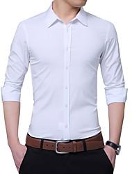 Недорогие -Муж. Рубашка Деловые Однотонный