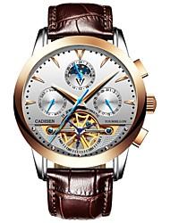 Недорогие -CADISEN Муж. Нарядные часы Модные часы Китайский С автоподзаводом Секундомер Защита от влаги Повседневные часы Кожа Группа Elegant Мода