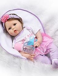 cheap -NPKCOLLECTION Reborn Doll Baby 22 inch Silicone Kid's Unisex Gift