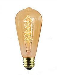 abordables -1pc e27 40w ac220-240v 2300k st64 120lm ampoule à incandescence