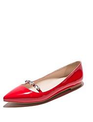 Недорогие -Жен. Обувь Материал на заказ клиента / Дерматин Весна / Осень Удобная обувь / Оригинальная обувь На плокой подошве На плоской подошве