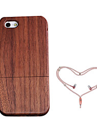 cheap -Case For Apple iPhone 5 Case Shockproof Back Cover Wood Grain Hard Wooden for iPhone 5