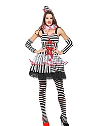 cheap -Burlesque Clown Halloween Carnival Birthday Oktoberfest Festival / Holiday Halloween Costumes White Color Block Vampires Animal