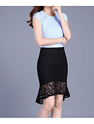 cheap -Women's Bodycon Skirts - Solid, Lace