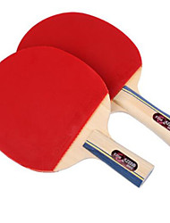baratos -DHS® E2F2 Ping Pang/Tabela raquetes de tênis Madeira Borracha Cabo Curto Cabo Comprido Espinhas
