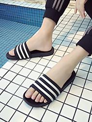cheap -Men's Shoes Rubber Spring / Summer Comfort Slippers & Flip-Flops Black / Blue
