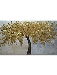 Pintados à mão Floral/Botânico Horizontal, Contemprâneo Modern Tela de pintura Pintura a Óleo Decoração para casa 1 Painel