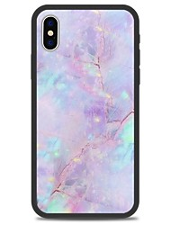baratos -Capinha Para Apple iPhone X iPhone 8 Plus Estampada Capa traseira Mármore Rígida Acrílico para iPhone X iPhone 8 Plus iPhone 8 iPhone 7