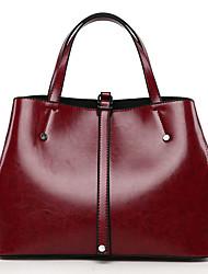 cheap -Women's Bags PU(Polyurethane) Tote Buttons Black / Brown / Wine