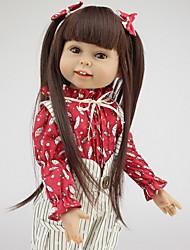 baratos -NPKCOLLECTION Bonecas Reborn Bebê 18 polegada Silicone de corpo inteiro / Silicone de Criança Unisexo Dom