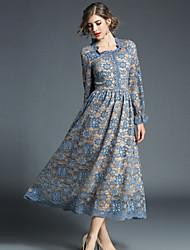 cheap -MAXLINDY Women's Vintage Street chic A Line Dress - Floral