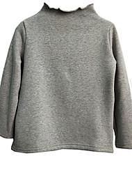 preiswerte -Mädchen Pullover & Cardigan Alltag Solide Polyester Frühling Langarm Kamel Marineblau Gelb Wein Hellgrau