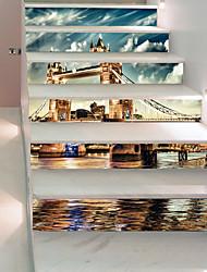Недорогие -Известные картины Пейзаж Наклейки 3D наклейки Декоративные наклейки на стены, Винил Бумага Украшение дома Наклейка на стену Стена