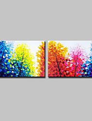 economico -Hang-Dipinto ad olio Dipinta a mano - Paesaggi Floreale / Botanical Modern Tela