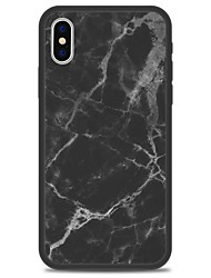 preiswerte -Hülle Für Apple iPhone X iPhone 8 Plus Muster Rückseite Marmor Hart Acryl für iPhone X iPhone 8 Plus iPhone 8 iPhone 7 Plus iPhone 7
