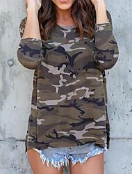 cheap -Women's Street chic T-shirt - Camouflage / Spring / Summer
