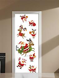 Недорогие -Известные картины Рождество Наклейки 3D наклейки Праздник стены стикеры Декоративные наклейки на стены Дверные наклейки, Винил Бумага