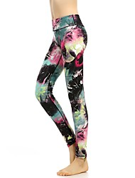 cheap -Women's Seamless Yoga Pants - Black / Pink Sports Print High Rise Tights / Leggings Running, Fitness, Gym Activewear Quick Dry, Breathable, Tummy Control High Elasticity
