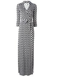 Недорогие -Жен. Классический Хлопок Рубашка Платье V-образный вырез Макси