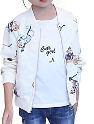 cheap -Boys' / Girls' Simple / Casual Sports Print Long Sleeve Jacket & Coat