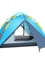 baratos -Shamocamel® 4 pessoas Tenda Dupla Camada Barraca de acampamento Ao ar livre Tenda Automática Á Prova-de-Chuva / A Prova de Vento para