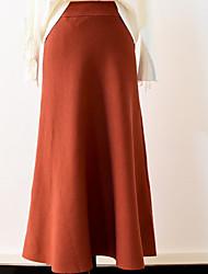 abordables -Mujer Sensual Columpio Faldas Un Color