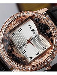 cheap -Women's Couple's Quartz Simulated Diamond Watch Fashion Watch Casual Watch Chinese Casual Watch Leather Band Luxury Fashion Black White