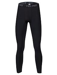 cheap -Men's Running Pants Breathability Pants / Trousers Exercise & Fitness Polyester Black / Dark Grey / Grey XL / XXL / XXXL