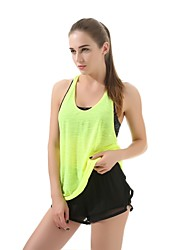 cheap -Women's Running Shirt - Green, Blue, Grey Sports Fashion Tank Top Casual, Exercise & Fitness Sleeveless Activewear Breathability Stretchy