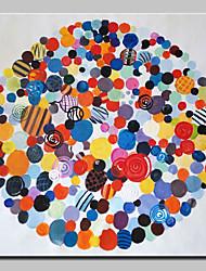 abordables -Peint à la main Abstrait Pop Art Carré, Moderne Toile Peinture à l'huile Hang-peint Décoration d'intérieur Un Panneau